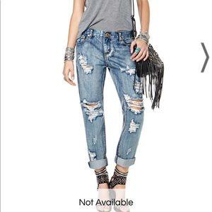 One teaspoon distressed baggie boyfriend jeans